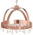 Dome Pot Rack Copper plated