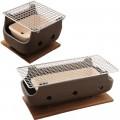 Brown Rect Charcoal BBQ Konro made in Japan