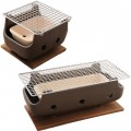 Brown Rect Charcoal BBQ Konro made in Japan 7.8 inches